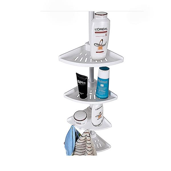 Wish | Bathroom Telescopic Corner Shelf Storage Shower Caddy Rack ...