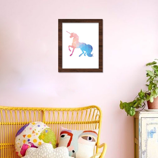 Unicorn Diy Color Inkjet Painting Living Room Bedroom Children S Room Wall Painting Decorative Paintings No Frame