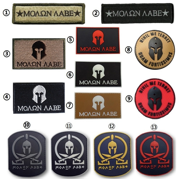 Spartan Molon Labe Badge Tactical Combat Black Op Morale Patch Military  Tactical Morale 3d Patch Badges Morale Military Armband Tactical Patches