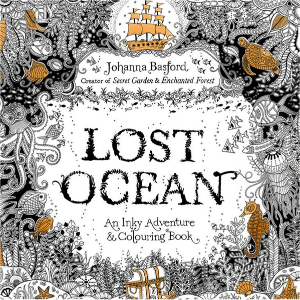 Hot Lost Ocean Coloring Book Antistress For Children Adult Relieve ...