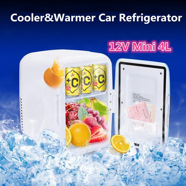 12v Mini Car Freezer Cooler Warmer 4L Electric Fridge Portable Icebox  Travel Refrigerator Cooler Box