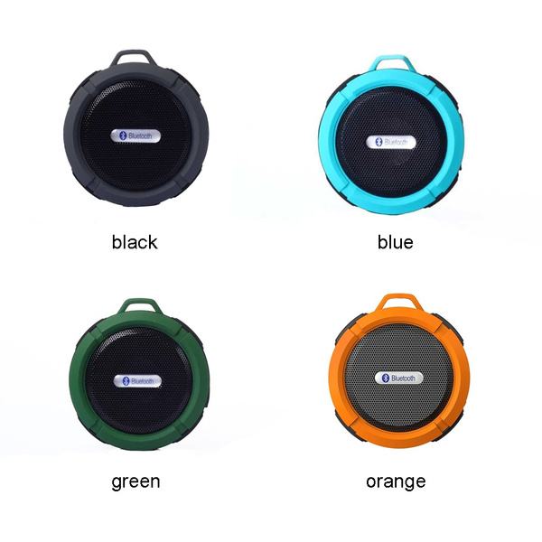 Waterproof Shockproof Dirt Proof Bluetooth Stereo Speaker Suction Cup