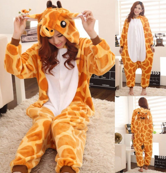 075ef86045 Pigiama Kigurumi Intero Donna Animali Giraffa Tuta Carnevale Feste ...