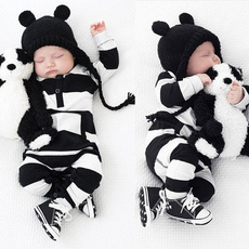 New Baby Boys Girls Newborn Striped Romper Outfit Bodysuit Jumpsuit Clothes 0-3 Years