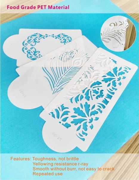 Wish Paisley Henna Miniprint Cake Stencil Cake Side Stencil