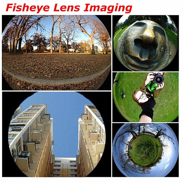 Fish eye lens 3 in 1 universal mobile phone camera wide+macro+fisheye lenses