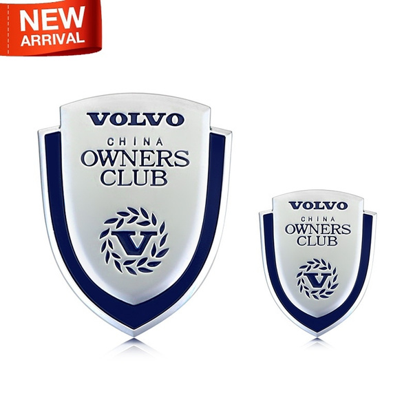 2016 New Owners Club Shield 100 3d Metal Refit Car Auto Fender Badge Emblem Sticker Suv For Volvo S60 Xc60 Xc90 S80 Car Styling