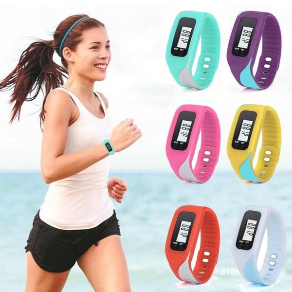 Picture of Digital Lcd Pedometer Run Step Walking Distance Calorie Counter Watch Bracelet Best Portal
