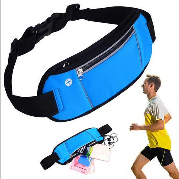 Picture of Women Man Sport Waist Running Bag Mesh Breathable Multifunctional Out Bicycle Phone Bag Waterproof/large Capacity