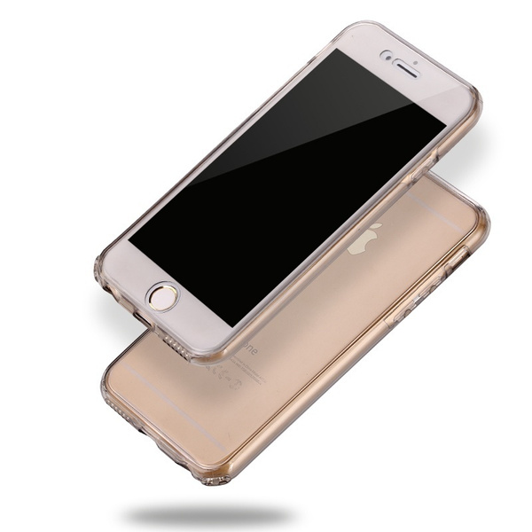Best Selling Shockproof 360° TPU Silicone Full Protection Crystal Clear Case Cover For Iphone 5 / 5S / 6 / 6S / 6P / 6S Plus/7/7 Plus