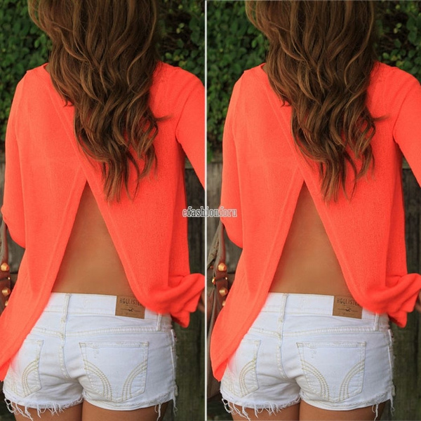 New Women's Loose Long Sleeve Chiffon Casual Blouse Shirt Tops Fashion Summer