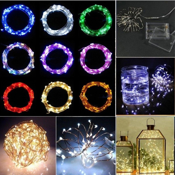 Picture of 2m 20 Leds Hot Party Shiny Fairy Lights String Decoration Battery Operated Copper Wire