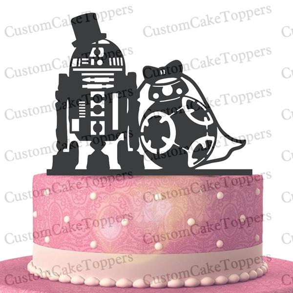 Wedding Cake Topper Star Wars Cake Topper R2d2 Bb8 Cake Topper Love Cake Topper Star Wars Silhouette