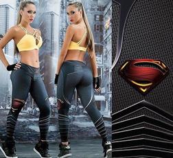 New Fashion Sport Leggings Workout Leggings Gym Fitness Women Legging Superman Printed Joggings Pants