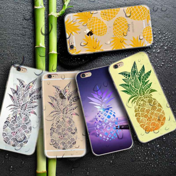 Picture of Pineapple Pattern Printed Phone Case For Iphone 5 5c 6 6s 6 Plus 7 7plus Samsung Galaxy S5 S6 S6 Edge S7 Edge S8 Plus Note 5 4 A7 A8 Htc M9 M8 Huawei Etc