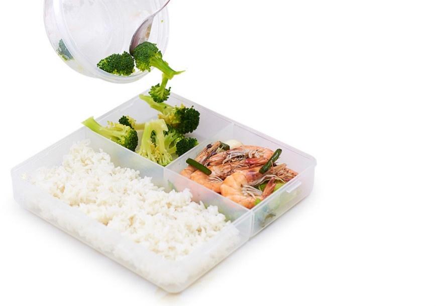 japan style bento lunch box plastic kitchen food organizer. Black Bedroom Furniture Sets. Home Design Ideas