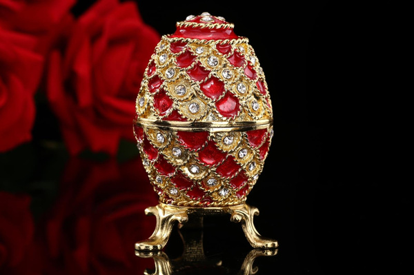 Gioielli, fabergeegg, Metal, Collectible Figurines