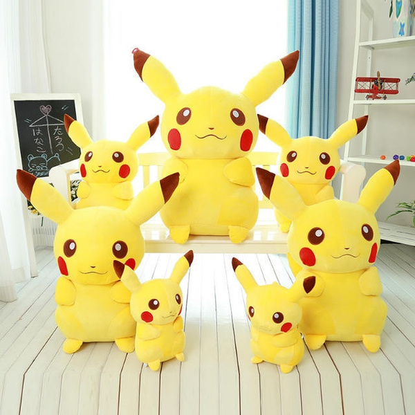 Brand New Plush toys 20/35/45/60cm Pokemon Pikachu Plush Toy PP Cotton Genius Soft Stuffed Cartoon Toys for Children Christmas Gift
