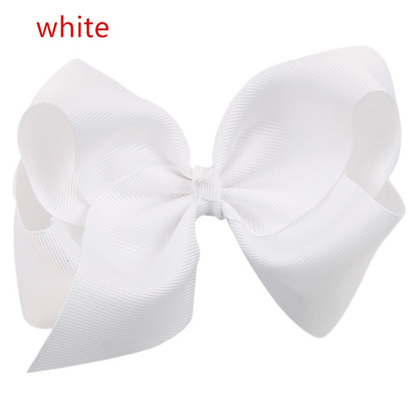 Big Hair Bow Girls Solid Ribbon Hair Bows With Clip Boutique HairClip Hairpin Baby Hair Accessories