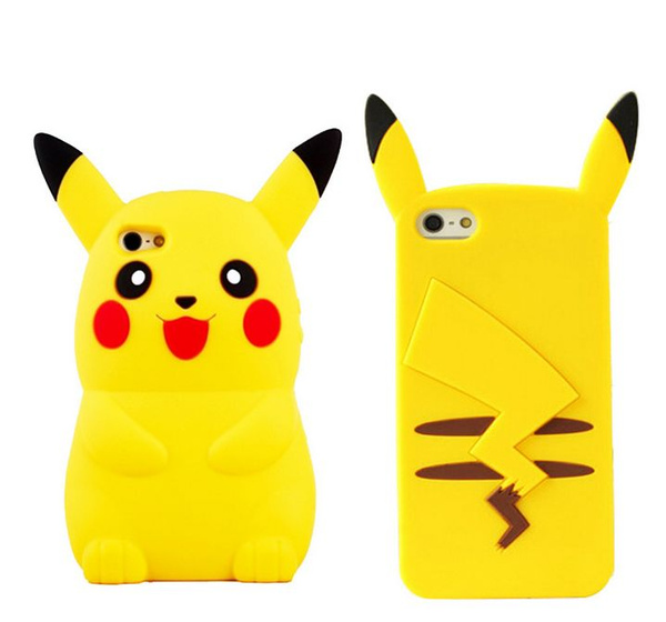 new products f4ea4 277d7 Mobile Game Pokemon go Pikachu Phone Case For Iphone 4s 5 5s se 5c 6 6s  Plus Cartoon 3D For Samsung s5 s6 s6 edge s7 Note3 Note 4 Note 5 Soft  Silicone ...