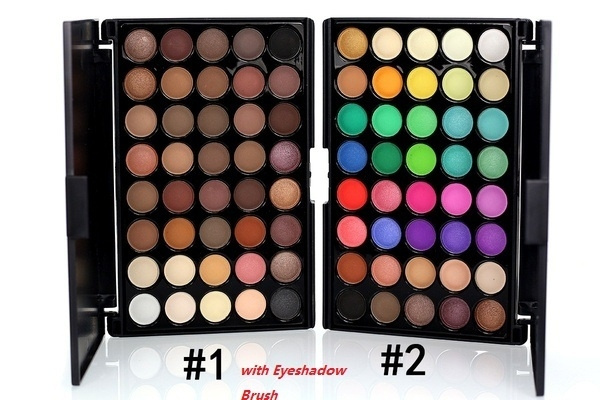 Picture of Women Fashion 40 Earth Colors Warm Nude Matte Pigment Long Lasting Eyeshadow Palette With Eyeshadow Brush
