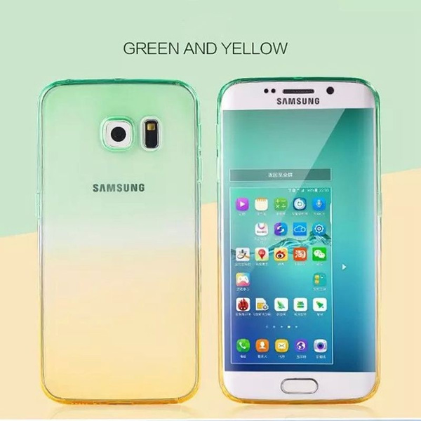 Soft TPU Gradient Color Case For iPhone 4 5 6 6S 6Plus 7 7Plus /Samsung Galaxy S3 S4 S5 S6 S6 Edge S7 S7 Edge /Note 3 4 5 7 /J5 J7 J510 J710 /A3 A5 A7 G530
