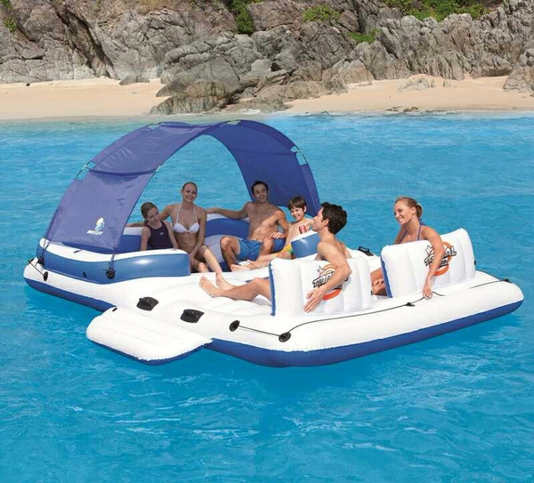 Charming Wish | Super Giant Inflatable Pool Floating Island Thickened Swimming Sofa  Seats Bed Air Mattress Water Beach Sunbathing Equipment