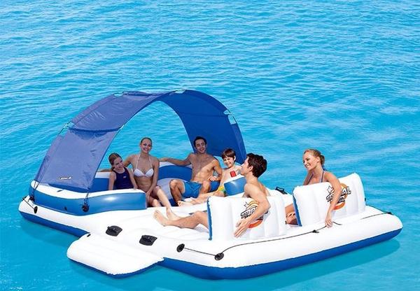 Wish | Super Giant Inflatable Pool Floating Island Thickened Swimming Sofa  Seats Bed Air Mattress Water Beach Sunbathing Equipment