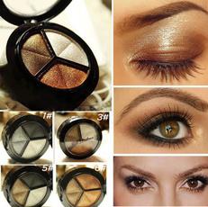 Smoky Cosmetic Set 3 Color Pro Matte Eyeshadow Makeup Eye Shadow Palette Glitter