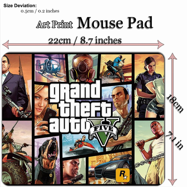 Art Print Game Mouse Pad Mat (22*18cm) for G420 GTA 5