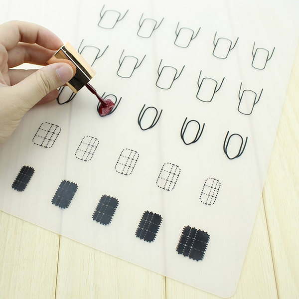 Wish Beauty Silicone Nail Polish Pad Stamping Plate Cover Sheet