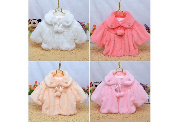 442d088d6 Winter Newborn Baby Girl Fur Coat Cloak Snowsuit Jacket Outerwear 0 ...