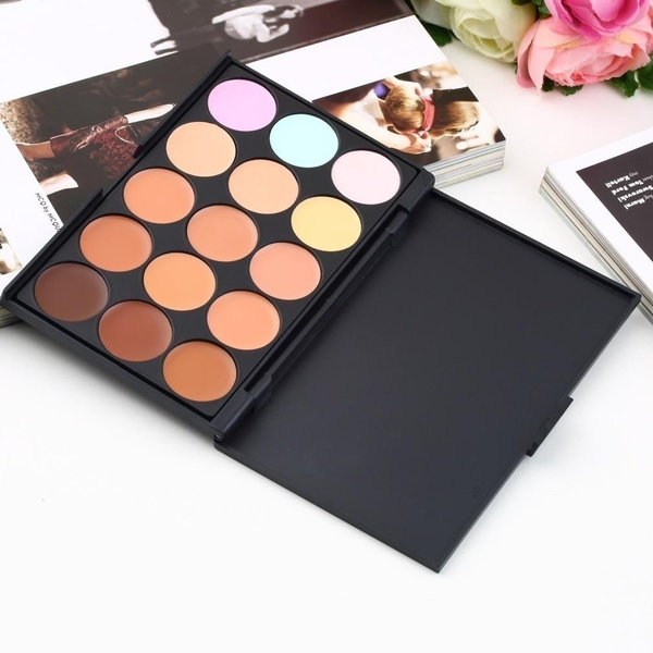 Picture of Women Beauty Professional 15 Color Camouflage Concealer Makeup Cream Palette