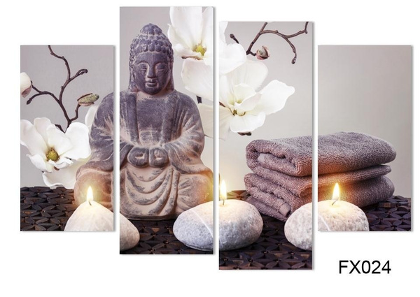 Wish | Unframed 4 Piece Wall Canvas Pictures For Living Room Canvas Art  Modern Printed Buddha Painting Picture Decoracion Buddha Paintings Color  Multicolor Part 89