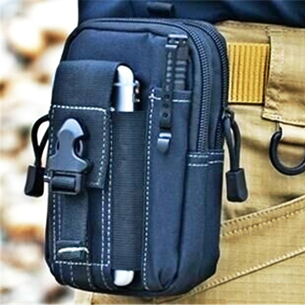 Picture of D30 Tactical Molle Waist Bags Men's Outdoor Sport Casual Waist Pack Purse Mobile Phone Case For Phone 1000d Cordura