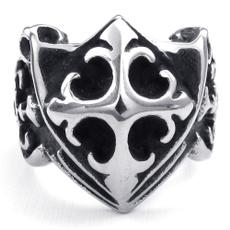 Steel, Goth, croix, shield
