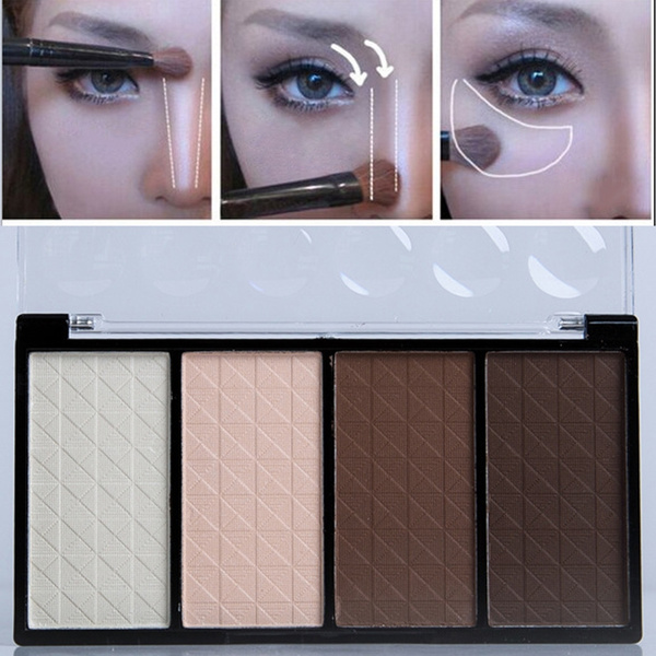 Picture of 4 Color Concealer Contour Palette Professional Makeup Highlighter Bronzer Blush Face Makeup Cosmetic