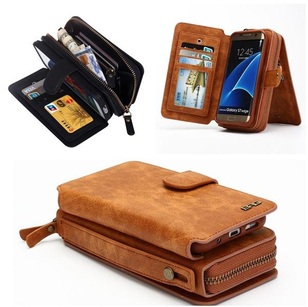 timeless design 8a071 492f9 Mens Zipper Magnetic Leather Purse Handbag Card Holder Wallet Phone Case  for IPhone X IPhone 8 Plus IPhone 7 Plus IPhone 6S Plus IPhone 6 Plus  Samsung ...