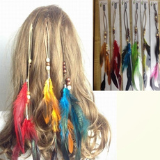 bohemianhairband, Hairpieces, Hair Extensions, featherhairclip