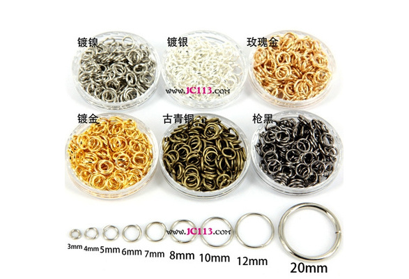 2016 Silver/Silver White/Bronze/Gold/Rose Gold/Black Tone Open Jump Rings Jewelry Findings Kit Accessories 3mm??40Pcs??-20mm( 2400Pcs)