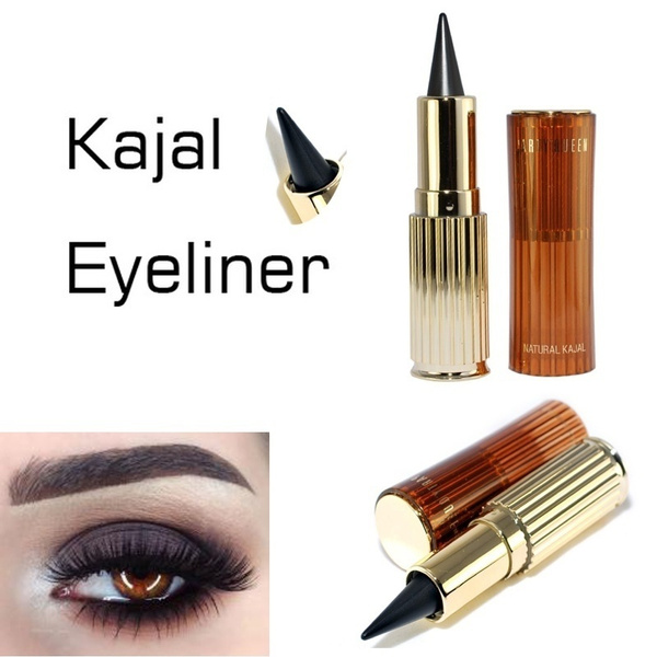 Golden Cat Eyes Kajal Eyeliner Thick Black Waterproof Solid Eyeliner Makeup Ultra Long Lasting Gel Pencil