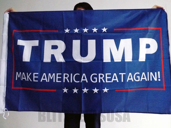 Donald J. Trump 3 X 5 Foot Flag Make America Great Again for President