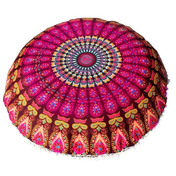Wish   Stylish Large Mandala Floor Pillows Case Round Bohemian ...