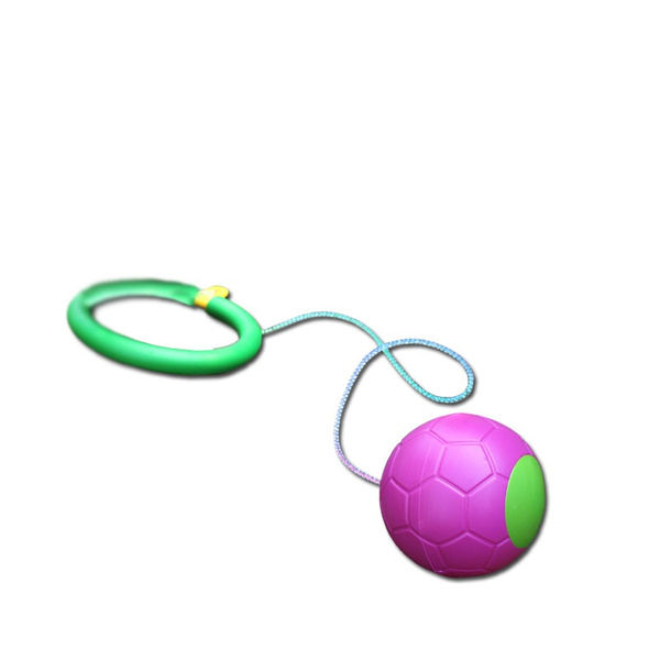 Funny One Foot Skip Ball Foot Jump Ball Foot Hula Hoop Skipping Rope Ball Toy Outdoor Toys Children Gift