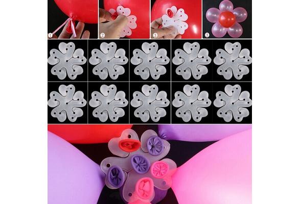 Plum flower Wedding Decoration Clip 10pcs Birthday Tie Balloon Xmas Fashion Party