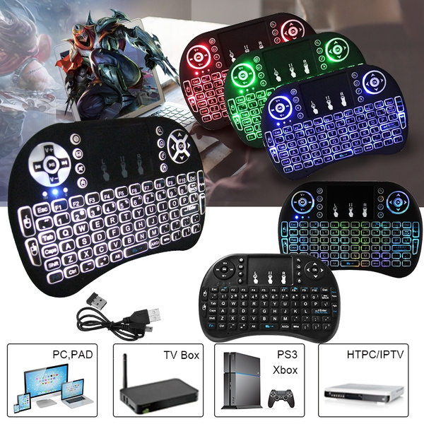 Picture of Xcsource Portable Backlight Touchpad 2.4ghz Mini Wireless Keyboard Mouse Combo Ac397