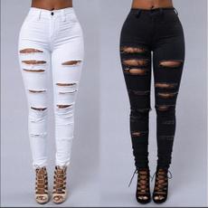 womens jeans, rippedjeansforgirl, Summer, rippedjean