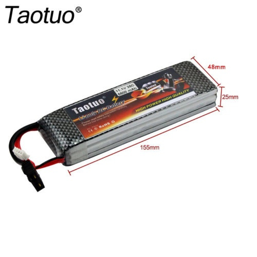 Wish | Taotuo 11 1V 5500mAh 3S 35C TRX Plug Lipo Battery for RC