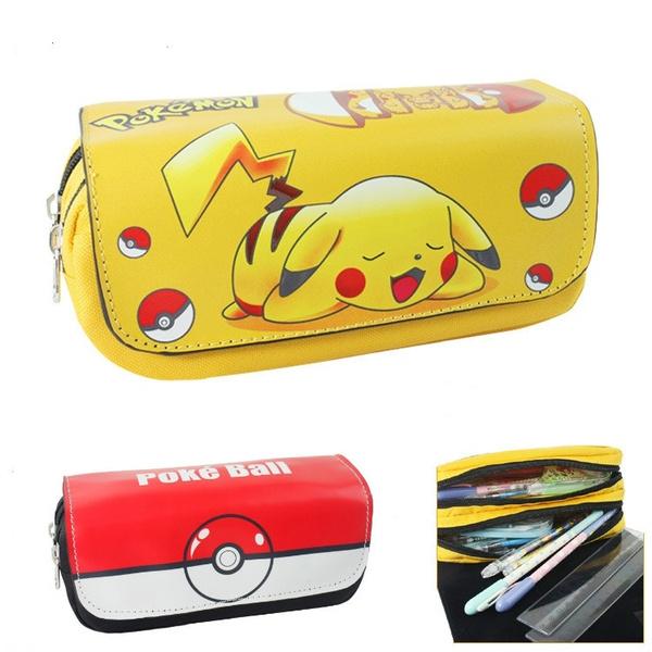 Picture of Cute Pokemon Cute Pikachu School Stationery Long Leather Zipper Pencil Case