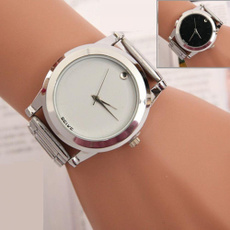 New Women Men Simple Analog Quartz Stainless Steel Wrist Watch